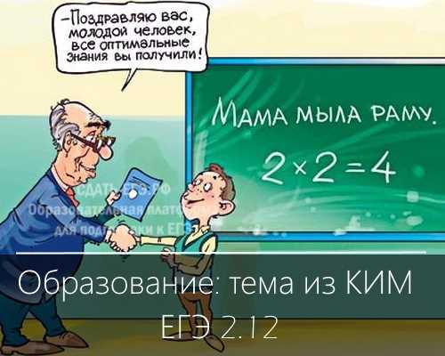 Образование: обществознание