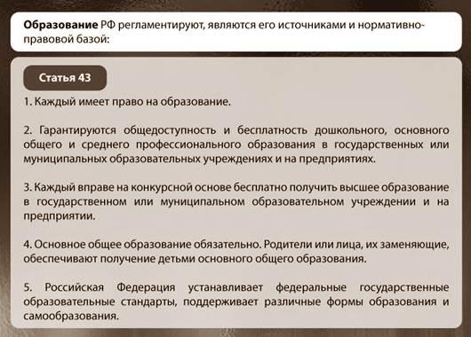 Образование в Конституции РФ
