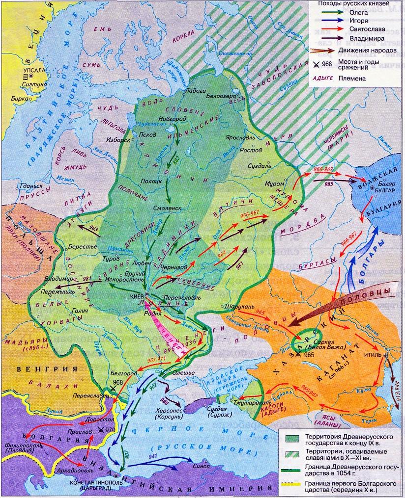 ШАГ #5–6: Первые киевские князья